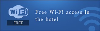 Free Wi-Fi access in the hotel